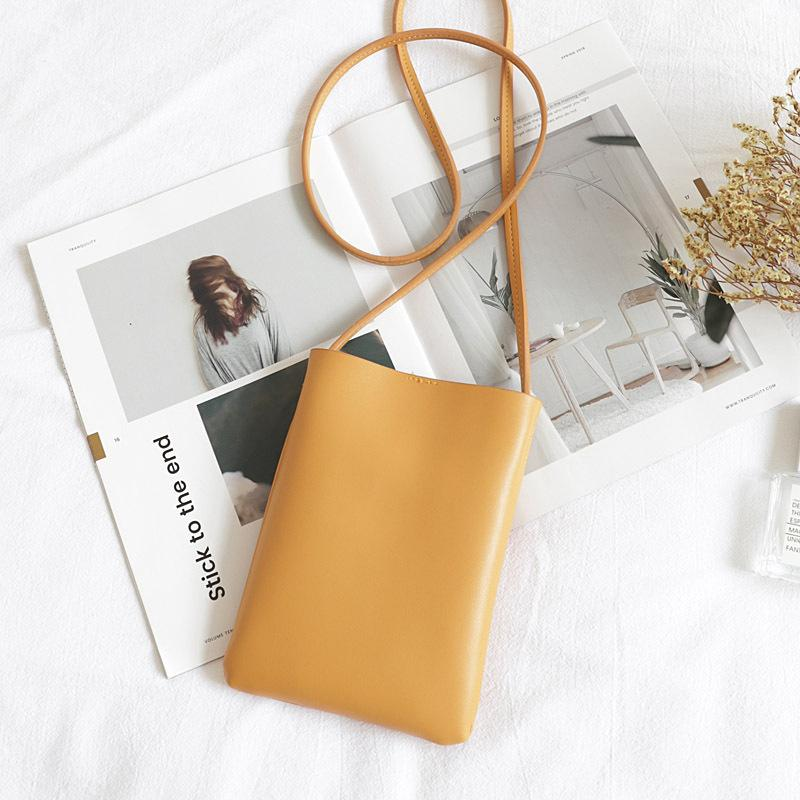 HBP Korean version of the retro vertical mobile phone bag INS wild simple soft-side small bags in the world, literary casual shoulder bagS
