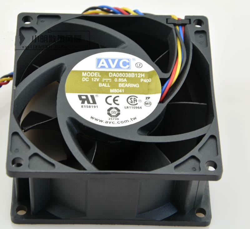 8038 12V 4-WILD PWM Control de temperatura CPU Volumen de aire grande Ventilador DA08038B12H 8CM Server 0.85A