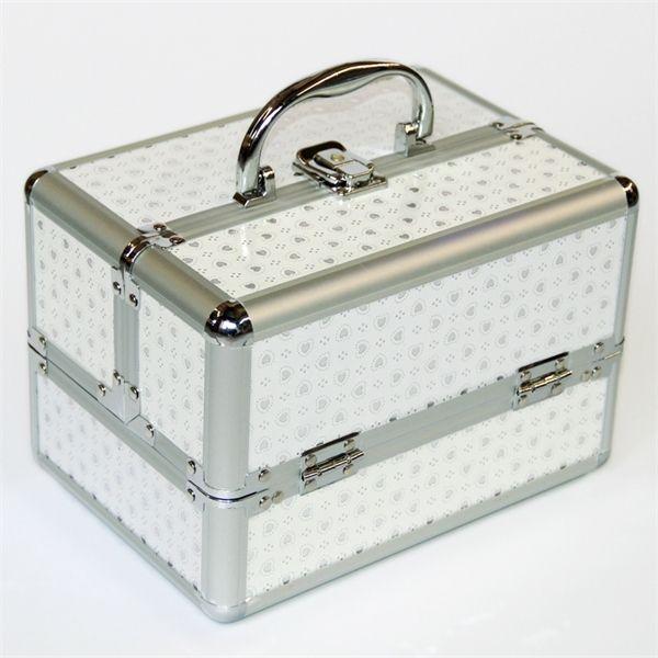 Дешево Белый цвет профессиональный косметический чехол портативные женщины макияж чехол макияж мешок для хранения ювелирных изделий коробка для хранения Caixa onignastora w1219