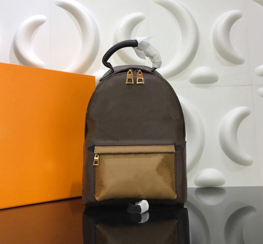 Hot Genuine Backpack Women Backpack Handbag Unisex High Designer Fashion Mini Brown Camouflage Luxury Pattern Leather Quality Rgubi