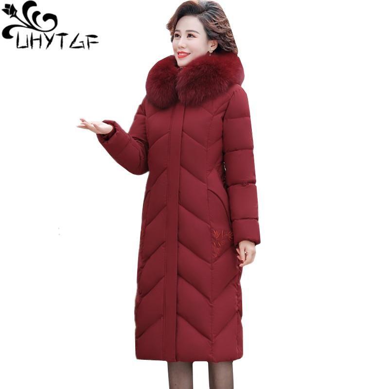 المرأة أسفل ستر uhytgf الشتاء سترة باركر القطن معطف المرأة الكورية فضفاضة 5xl زائد الحجم أعلى الأزياء التطريز رشاقته