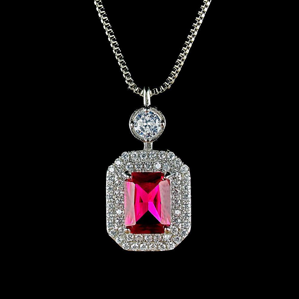 Aiyanishi Charms Paraiba Tourmaline Halo Emerald Gemstone Ожерелье 925 Стерлинговое серебро Стерлингов Съедорождение Кулон Ожерелье оптом
