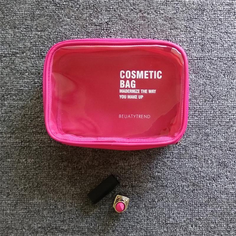Водонепроницаемый косметический прозрачный путешествия организатор сумка макияж молния ПВХ корпус ванна изготовить женщин красота мытья подразделений для хранения туалетных принадлежностей WADCS