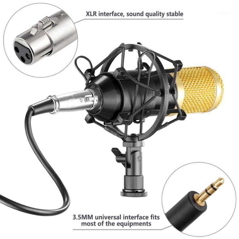 Microfone de condensador profissional BM-800 para computador + montagem + tampa de espuma + cabo como BM 800 BM8001