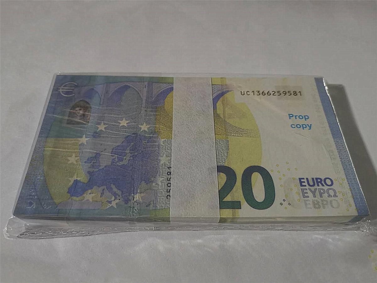 Горячей продажа SIMULATE Европы 20 евро поддельной банкноты игрушка кино и телевидение съемки реквизит реквизит практикующего банкноты игру маркер 07