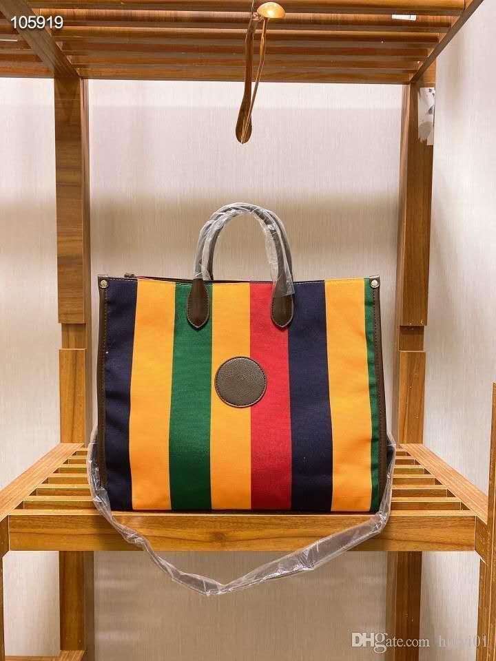 2020 nuova borsa a tracolla a strisce delle donne shopping bag l'ultimo modello di moda in combinazione con la stampa classica