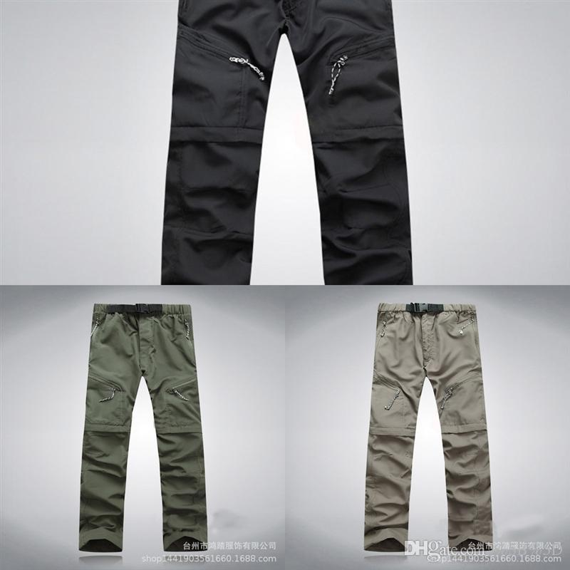 0oa extraíble al aire libre al aire libre verano para hombre de verano Diseñador rápido Dry BeFusy Pantalones Pantalones Pantalones Pantalones Ciclismo Pesca Camping Alta Calidad Senderismo Hombre