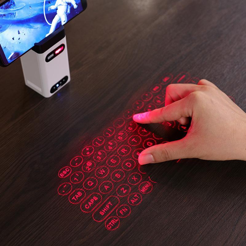 Bluetooth Sanal Lazer Klavye Kablosuz Projeksiyon Klavye Portatif Bilgisayar Telefon Pad Dizüstü Fare Fonksiyonu Ile Sıcak LJ200925