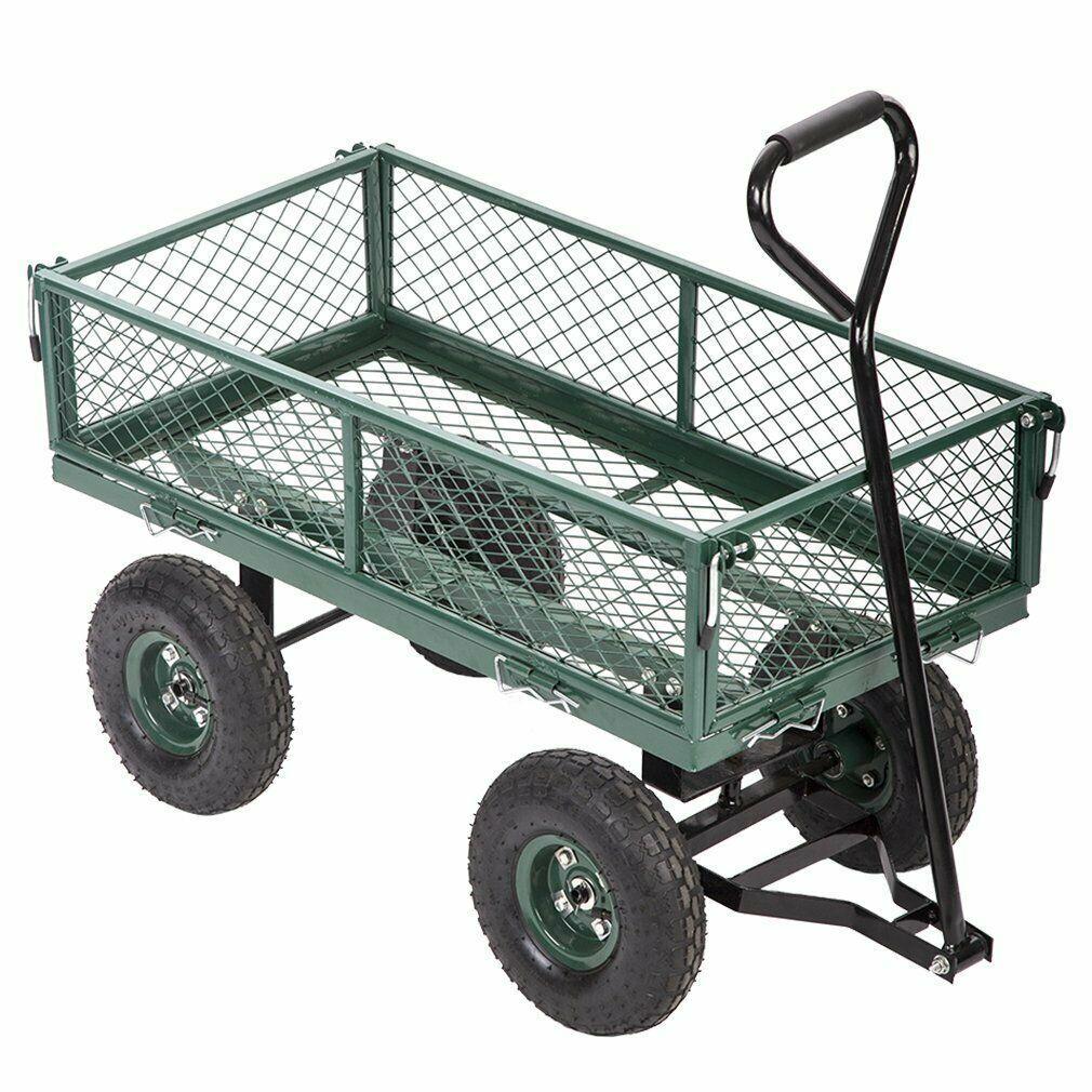 Yeni Bahçe Arabaları Vagonlar Ağır Hizmet Programı Açık Çelik Plaj Çim Bahçesi Buggy