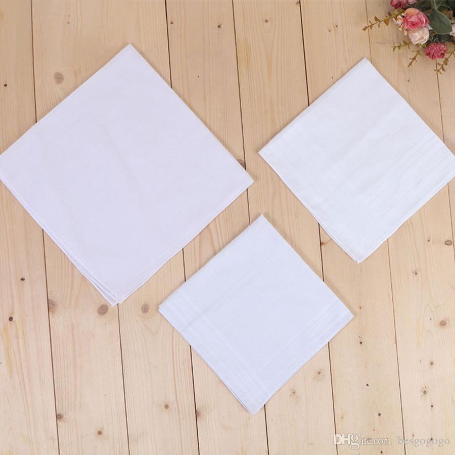 O tamanho grande 43 * 43 centímetros Branco Jantar Handkerchief Pure Cozinha Handkerchief Pure Color pequeno Praça Cotton Suor Toalha Plain Handkerchief DH0167