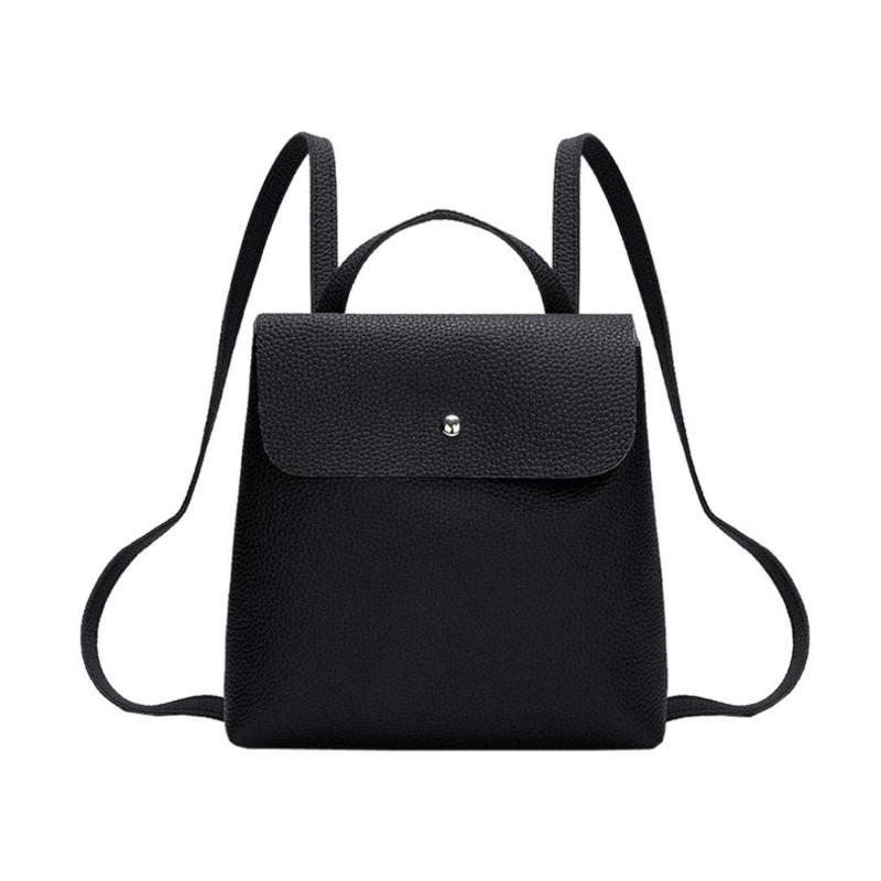 Women Fashion Leather New Mini Backpack School Bag Pure Color Female Tote Bag Ladies Travel Shoulder Girl Rucksacks Backpack