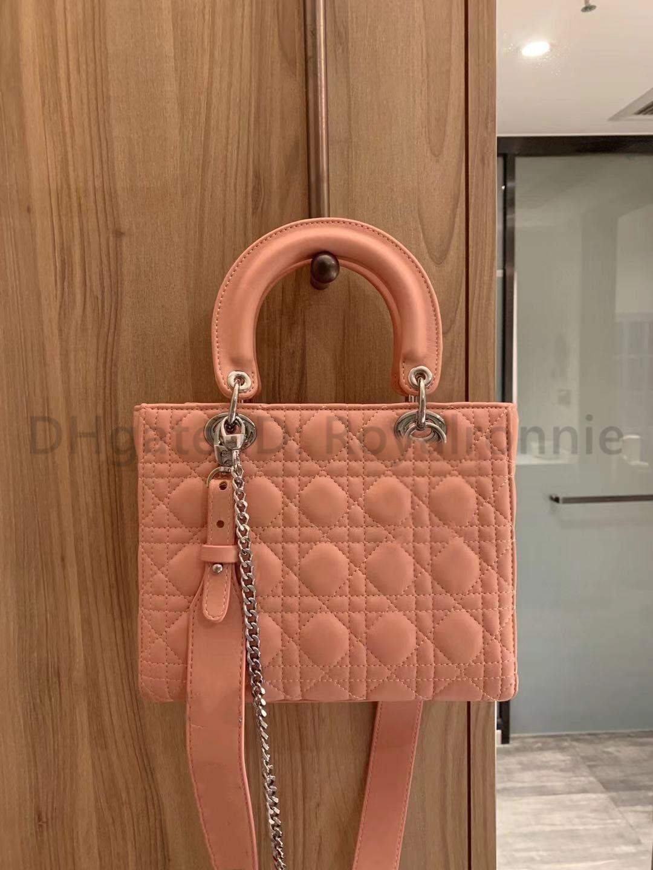 Top Quality Mulheres Lady Bag 2021 Novos Designadores Femininos Clássicos Moda Luxurys Handbags Prata Hardware Grace Totes Crossbody Ombro Bolsas