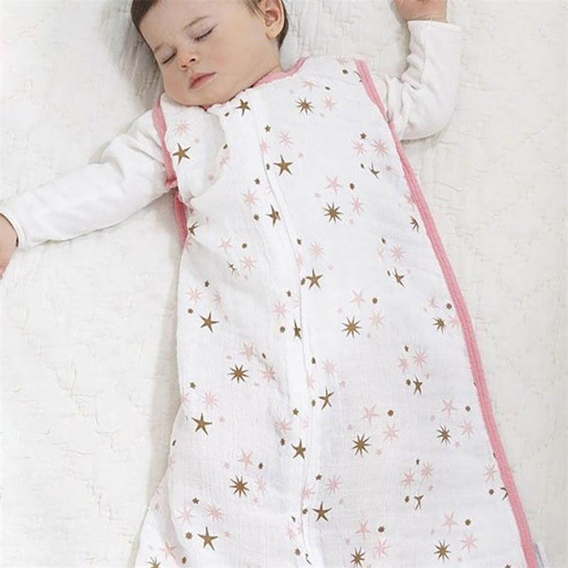 Neue Baby Schlafsäcke 100% Musselin Baumwolle Aden Anais dünn Schlafsack für Sommer Bettwäsche Baby Bebe Sacks Sleepsacks 12-18months 201128