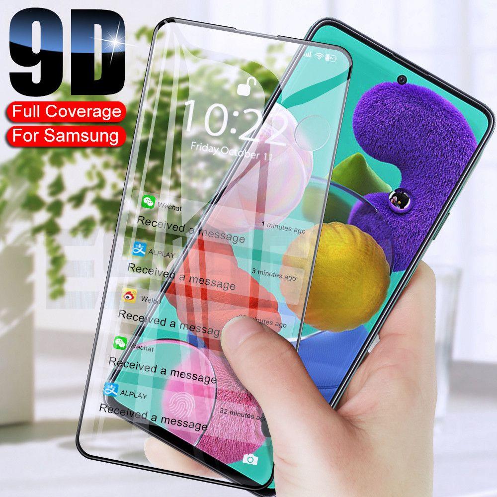 9D экран защитный стекло на для Samsung Galaxy A30 A50 A71 A01 A11 A21 A21S M11 M21 M31 M51 Закаленное стекло пленочная пленка