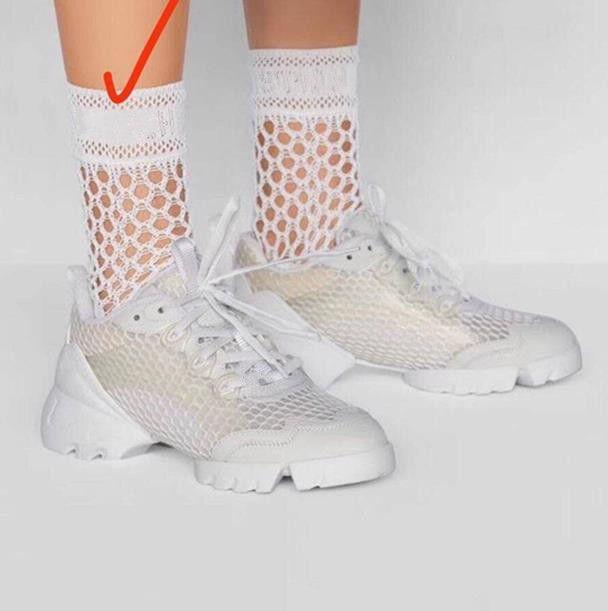 Yeni Tasarımcı Net Pamuk Çorap Çorap Çorap Kadınlar Için Moda Bayanlar Kızlar Streetwear Mektup Çorap Çorap Sıcak Satış