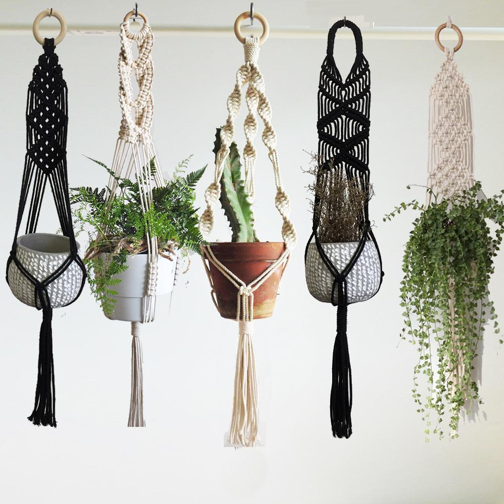 New arrival 100% handmade macrame plant hanger pot tray pot hanger