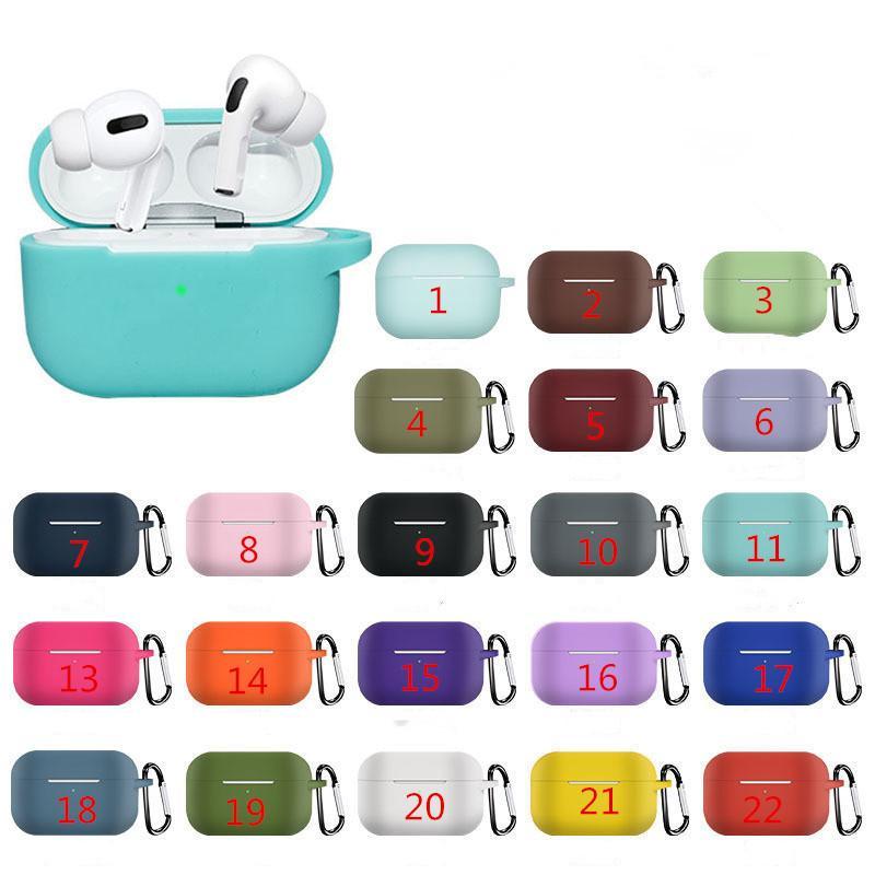 Casos Silicone Case à prova de choque Capa fone de ouvido para o ar pro geração Bluetooth 3 fone 2ND headphone H1 AP2 AP3 GPS Rename