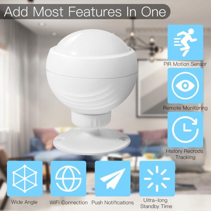 Tuya Smart WiFi Wifi PIR Détecteur de mouvement Détecteur d'alarme batterie intégrée pour Smart Home Automatisation Travailler avec Alexa Accueil Google
