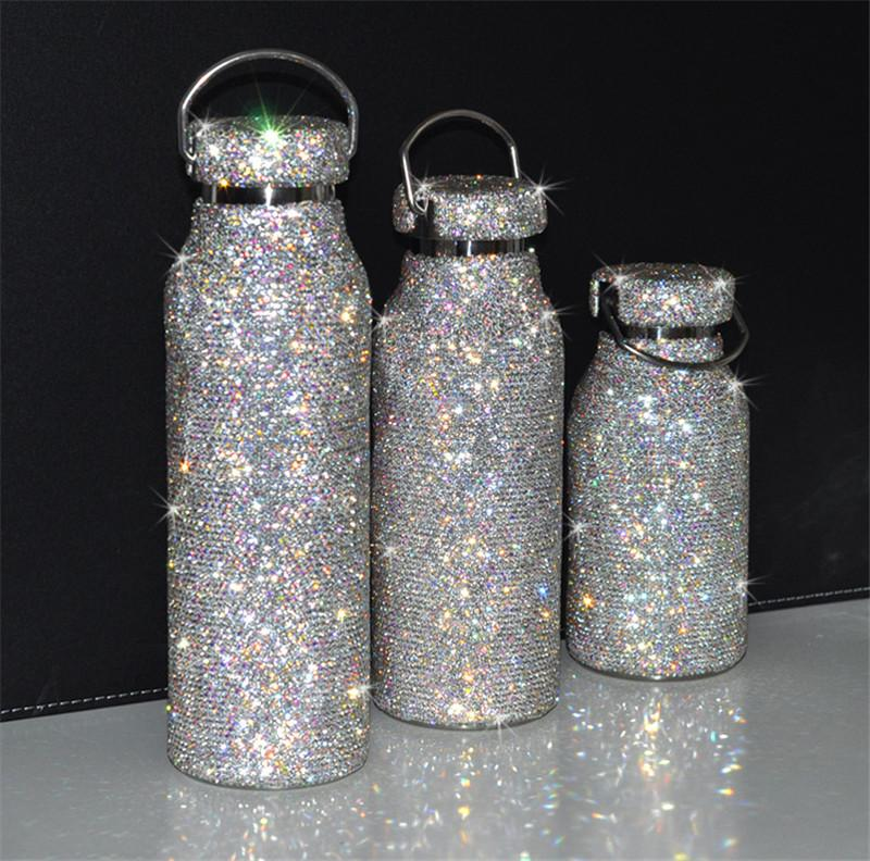 Creative Diamond Thermos Cup Crystal Cup High-grade Stick Drill Individual Character Girl Web Celebrity Vacuum Cup New Lovely Trend Gift