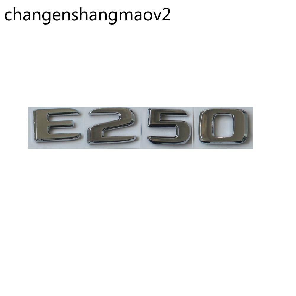 Chrome Abs ABS Traseira Traseira Letras Emblemas Emblemas Emblemas Emblemas Adesivo Para Mercedes Benz E Classe W213 E250 2017 -2020