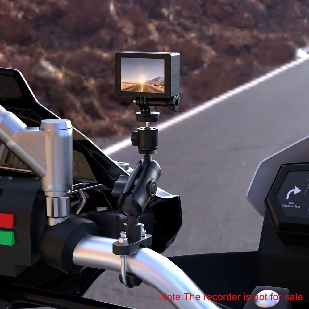 Universal-Motorrad-Sport-Kamera Metallbefestigungs Recorder Bracket Mobil Driving Einstellbare Telefon-Halter B5S8