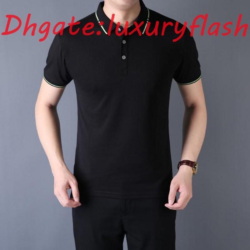 Yüksek Kaliteli Erkek T Shirt T Gömlek Erkek Yaz Polo Kısa Kollu T Shirt Emboridered Crewneck Rahat Tops