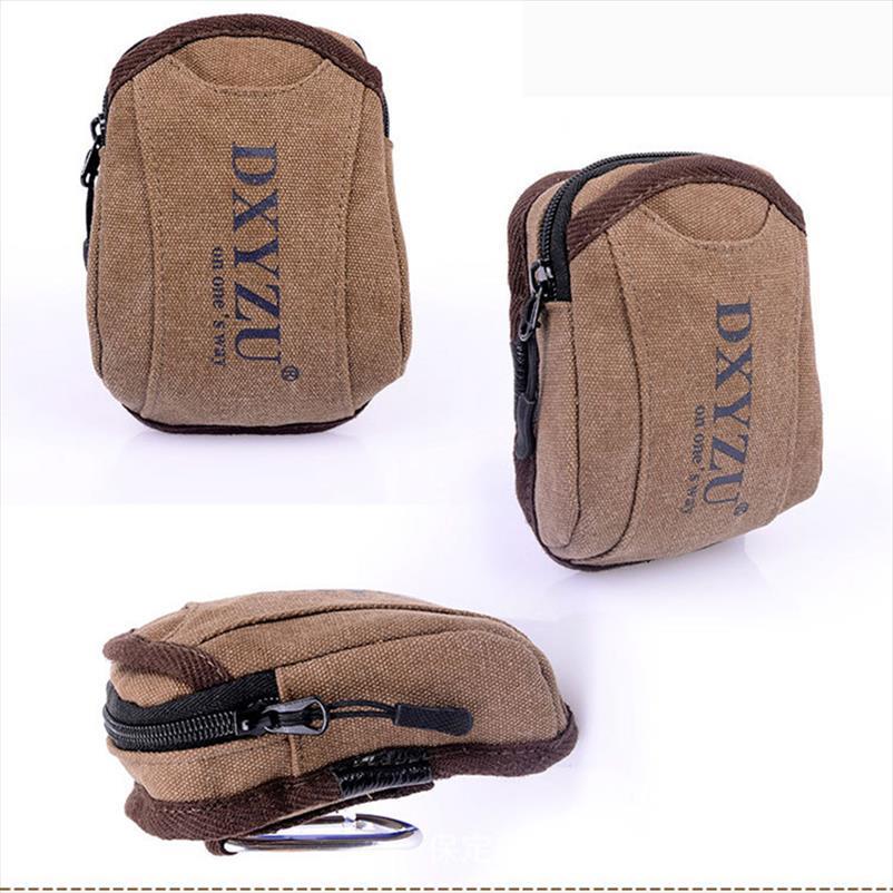 borsa di tela esterna degli uomini di sport della cinghia Bisi modo di usura telefono resistente piccola bolsa pierna stampa della lettera di indossare una cintura di tasca
