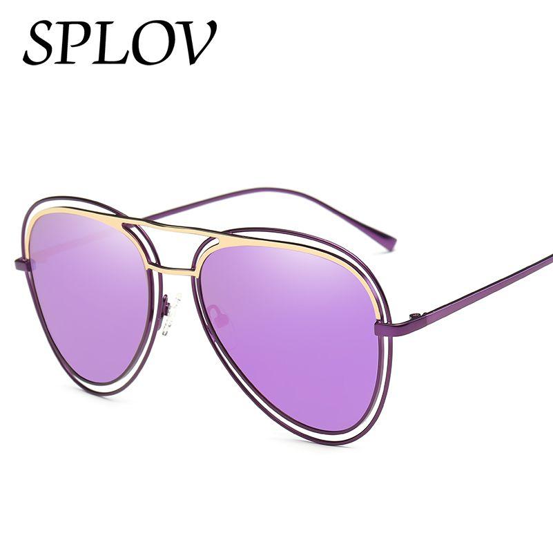 2017 Frauen polarisieren Yurt Brillen Metall Sonnenbrillen Bunte weibliche Brille Mode Spiegel Weinlese-ovale UV400 Sonnenbrille New