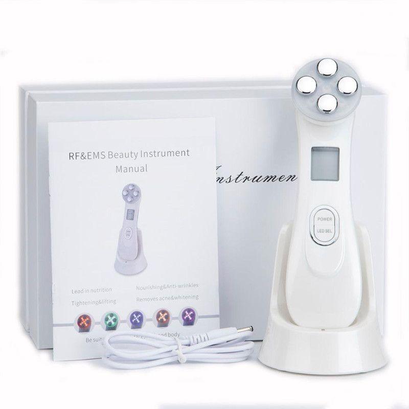 Hotsale 5in1 RFEMS Radio Mesoterapia Eletroporação face Rádio Beleza Pen Frequency LED Photon Rosto rejuvenescimento da pele removedor de rugas