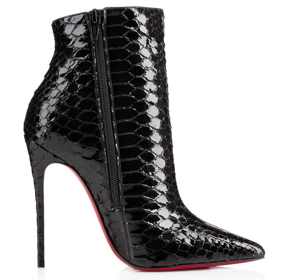 Elegante invierno sokate botín rojo botas de tobillo botines sexy puntiaguda punta dama botines moda tacones altos fiesta fiesta eu35-43, con caja
