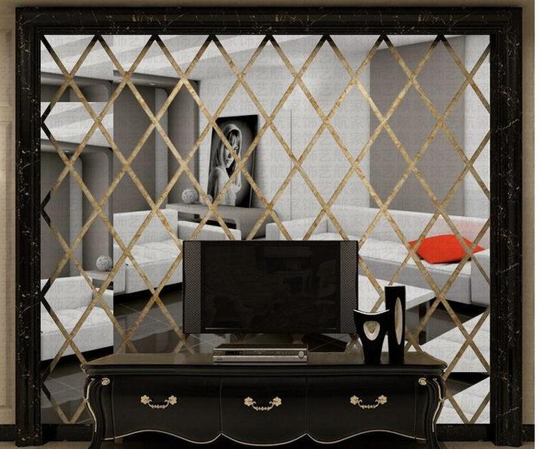 DIY 3D 거울 벽 스티커 아크릴 아트 룸 침실 거실 가정 장식 데칼 벽화 이동식 모드 BBYZRD BDESPORTS