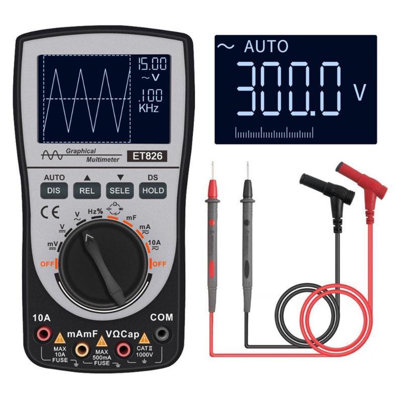 Oscilloscope numérique générateur de signaux Multimètre testeur 4000 comptes Oscilloscope affichage LCD portable Outils de test automatique compteur
