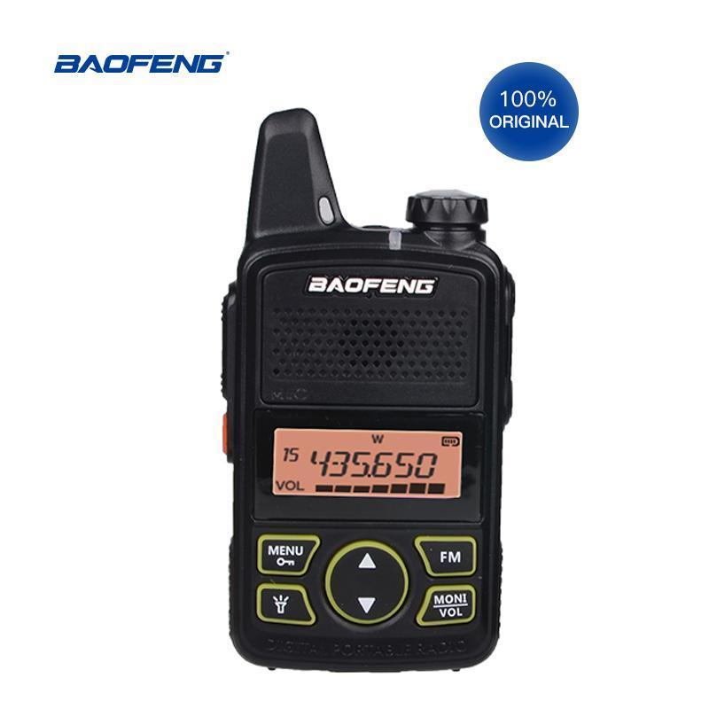 Walkie Talkie 3PCS Baofeng T1 미니 양방향 라디오 BF-T1 UHF 400-470MHz 20CH 휴대용 햄 FM CB 핸드 헬드 트랜시버