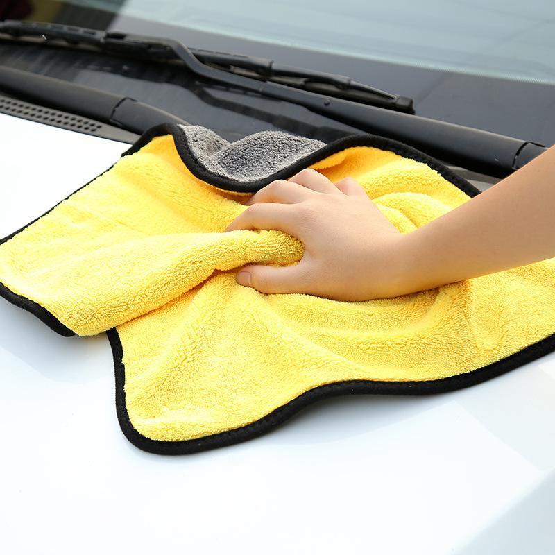Coralfleece voiture nettoyage voiture voitures nettoyage intérieur tissu tissu épaissie absorption d'eau lavage non pelucheux