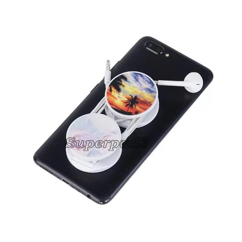 Plastic Flexible Round Mobile Phone Holder Foldable Stand Fashion Grip Mini Portable Holder Customized Design Logo Universal for Smartphones
