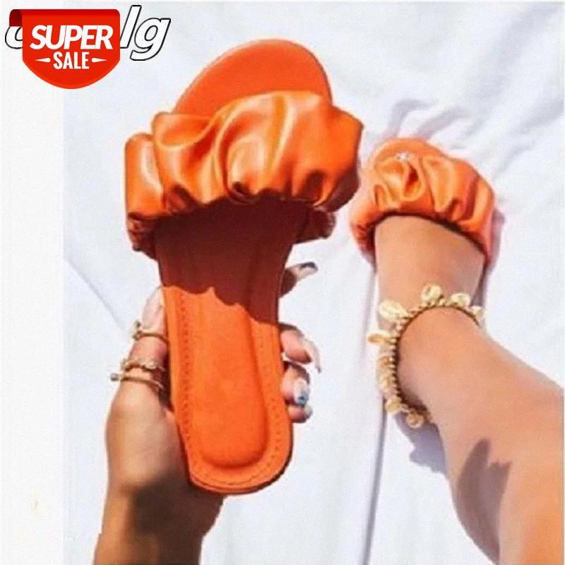 Moda zapatos de mujer caliente verano dedo abierto zapatillas planas hembra al aire libre casual playa fip flops confort mujer 43 zapatos de mujer # s05d