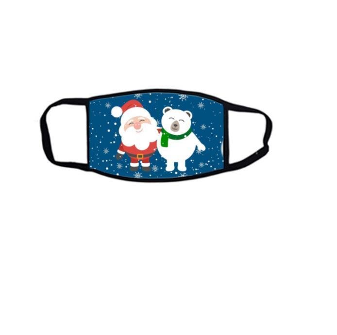 Máscaras de Natal Xmas dos desenhos animados da cara Impressão Máscara Adultos Natal Anti algodão Máscara de poeira Reutilização Designer Máscara da tampa Máscaras KKB2681