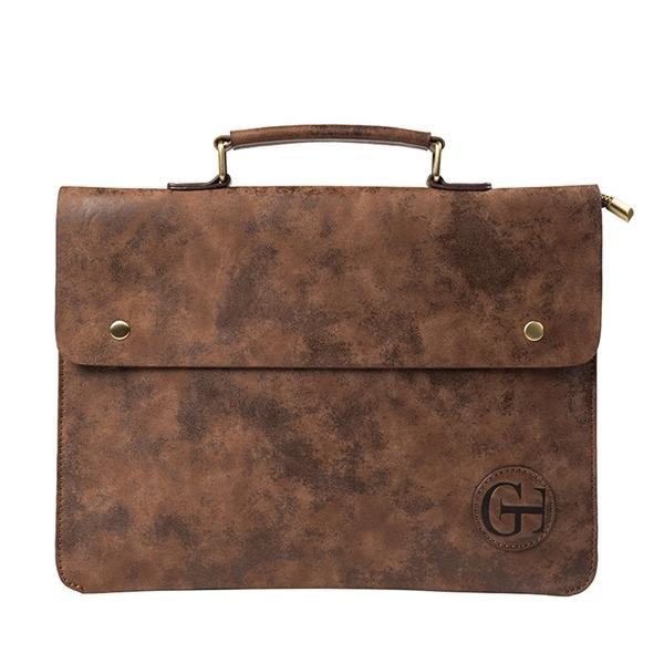 Business Briefcase Men's Work PU Leather Bag Men Office Camouflage Handbag Document Data Package A4 File Pocket Q0112