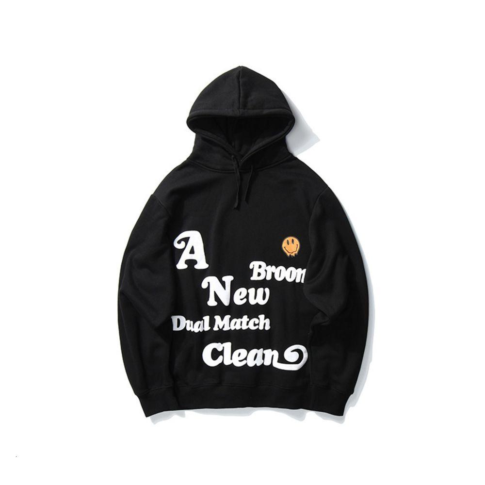 Marca de moda vertical comercial de manga larga oscura suéter instantánea Hip Hop Hop Otoño