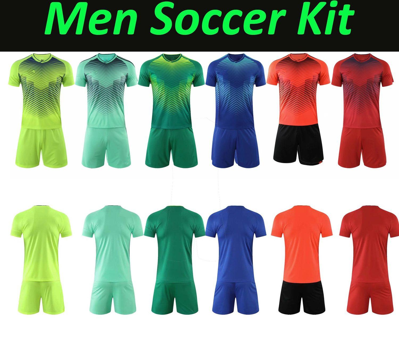 Mens Soccer Jerseys Short Adulte Kits de football personnalisé Personnalisé Numéro Numéro Logo pour les uniformes d'équipe Camisa de Futebol Football Formations