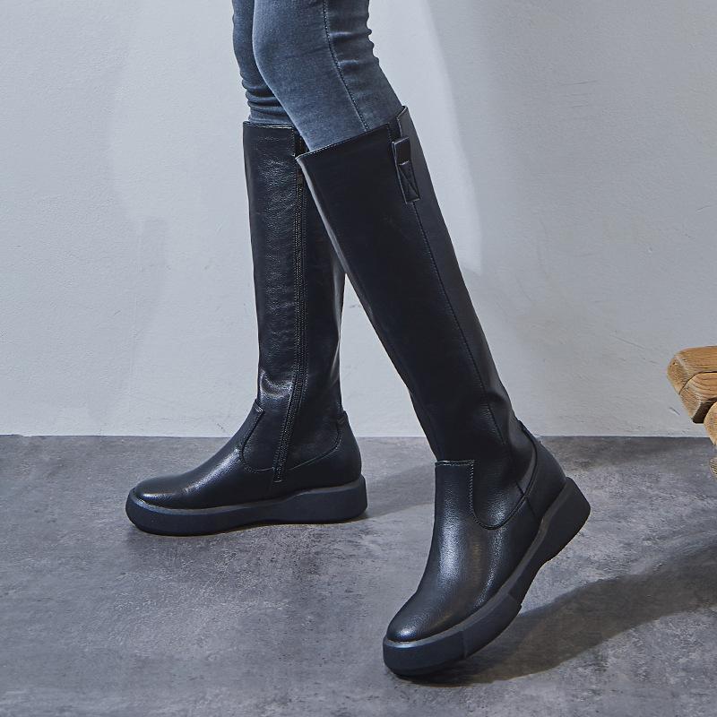 2020 Outono inverno mulheres coxa alta botas altas barril cavaleiro cavaleiro botas à prova d 'água long ocidental clássico sapatos