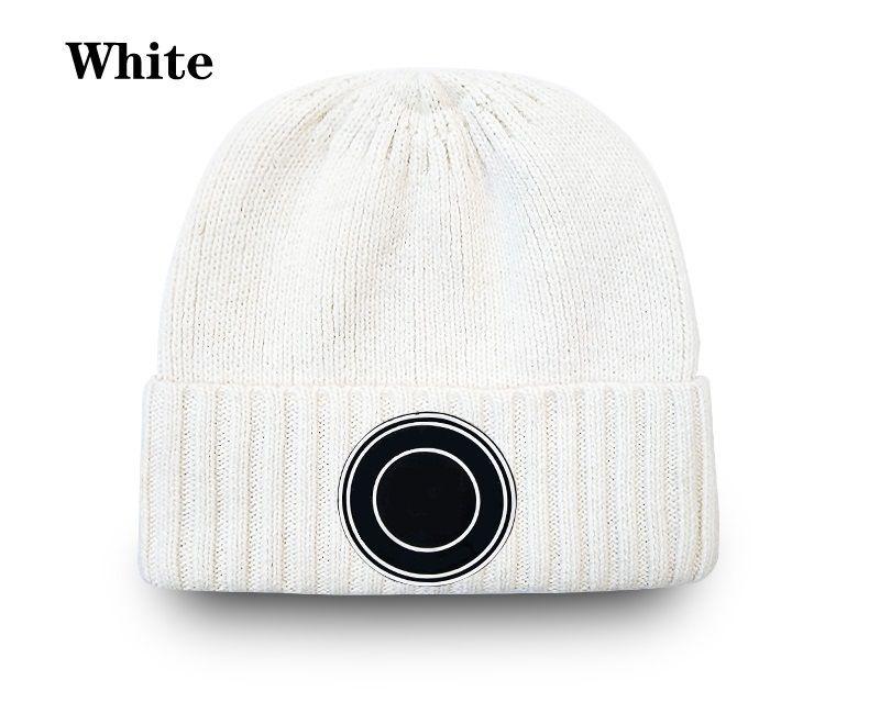 Alta qualidade letra clássica malha beanie bonés para homens mulheres outono inverno quente espessa lãs bordado chapéu frio casal moda rua chapéus