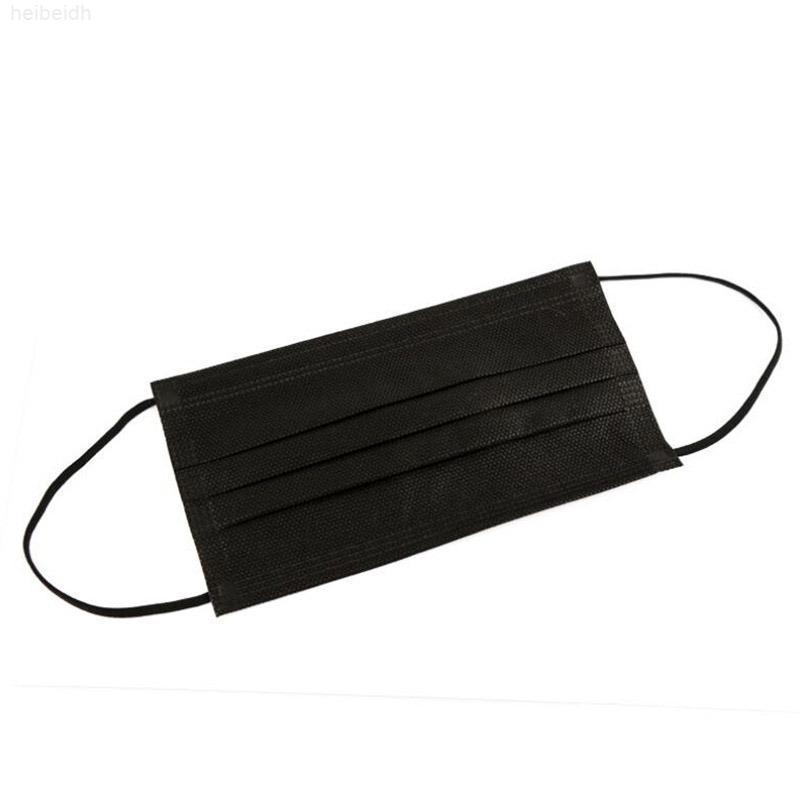 Máscara Máscara de diseño de cara elástica desechable para seguridad protectora negra Anti-polvo Mascarillas de la boca de algodón de 3 capas Diseño de lujo de moda ICE C1