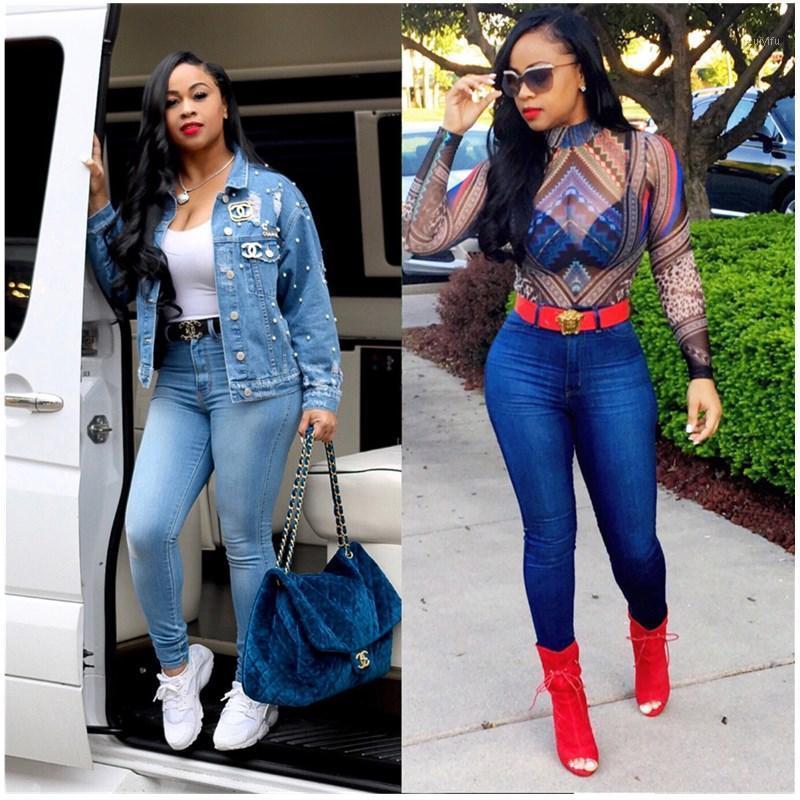 Kadın Kot Pantolon Bumen Heng Xin Est Gelenler Moda Kadınlar Lady Denim Sıska Pantolon Yüksek Bel Streç İnce Kalem 20211