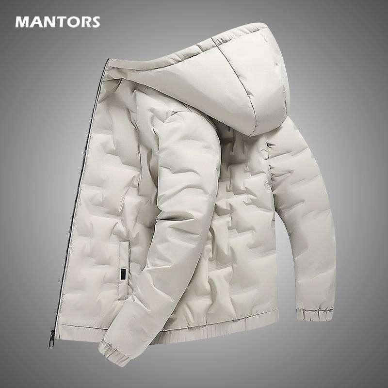 Blanca la chaqueta con capucha de los hombres los hombres del invierno del pato abajo de la chaqueta ocasional de la capa caliente grueso abrigo de invierno abrigos esquimales hombres Streetwear 201104
