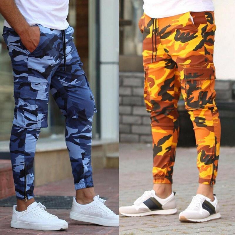 Мужские брюки 2021 Joggers Men Casual Camouflage упругие удобные брюки Camo Harem Pants1