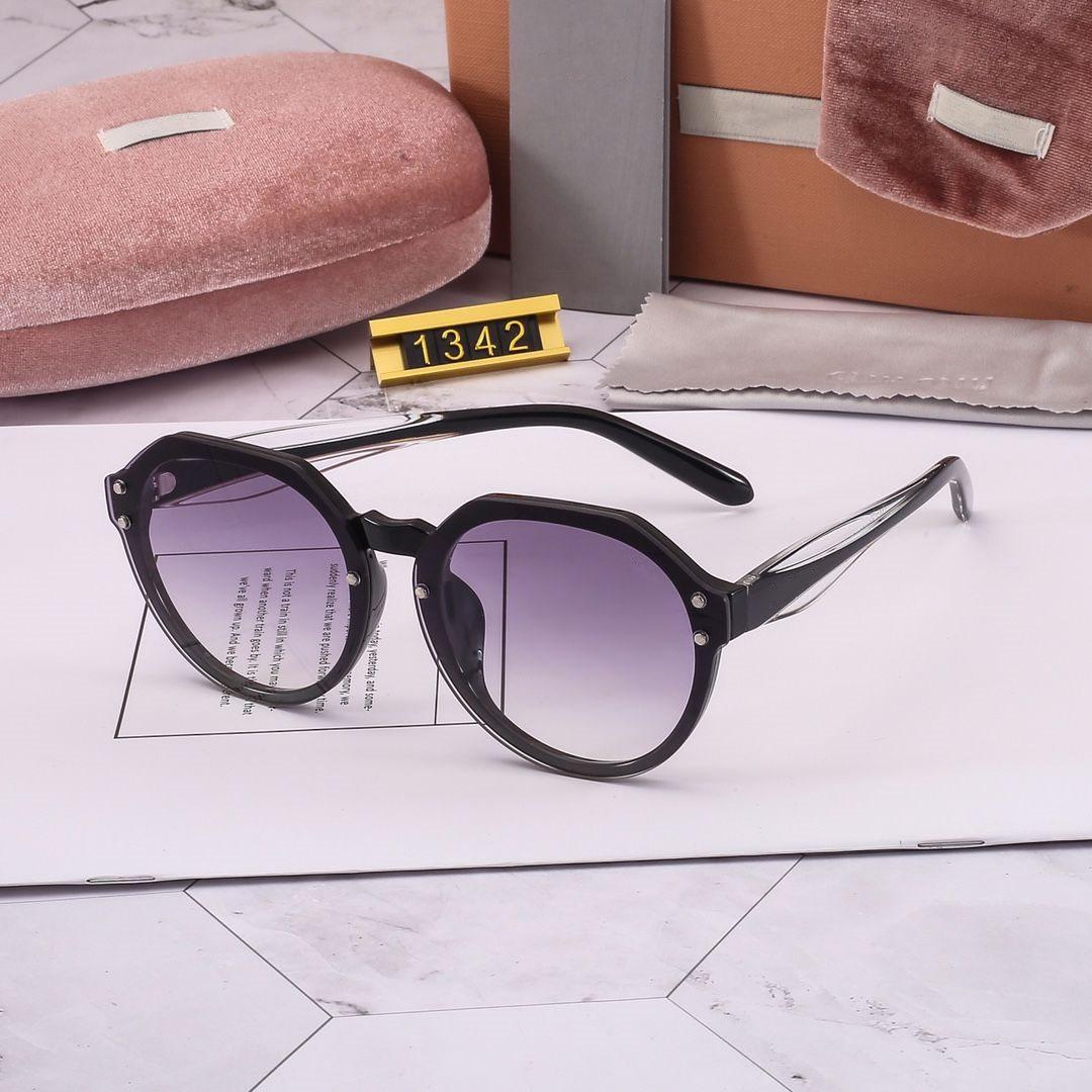 Estate donna occhiali da sole delle donne di Goggle Occhiali da sole Modello 1342 occhiali da sole UV400 6 colori altamente qualità con scatola regalo