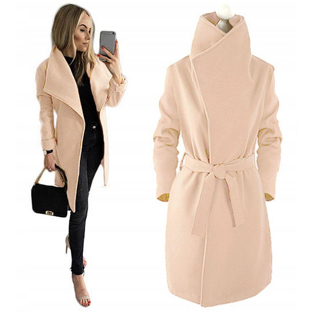 SAGACE New Women Super Thick Woolen Coat Slim Type Female Autumn Winter Wool Coats Long Sleeve Open Cape Casual Jacket