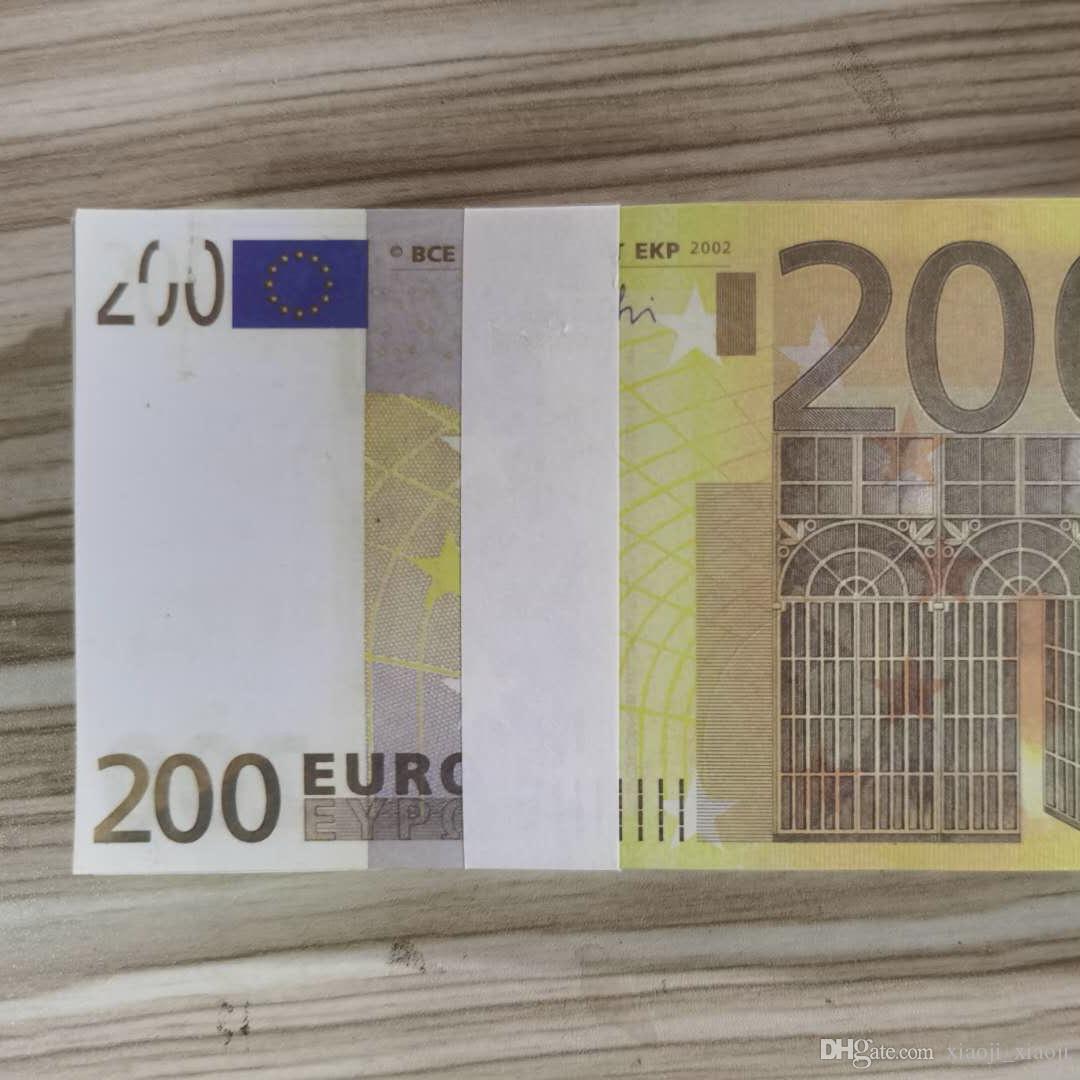 Бумага для копирования PROP Money 200 US Большинство детей Play Toy или Family Banknote Реалистичные EUROS Game 100 шт. / Пакет CFAQK