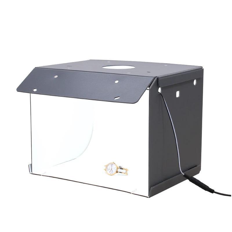 Freeshipping Mini Photo PP Studio Boîte Photographie Portable Portable Softbox LED Boîte à photographier PLIOT Photo Studio Soft Boîte